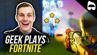 GEEK PLAYS FORTNITE! (Battle Royale Funny Moments)