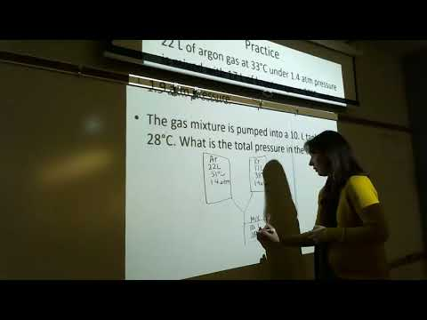 Total Pressure of Gas Mix, Gas Density, Molar Mass of Gas Lecture