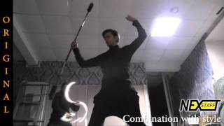 Фаер-шоу.Уроки шест (Spin staff) стиль ORIGINAL - Combination with Style