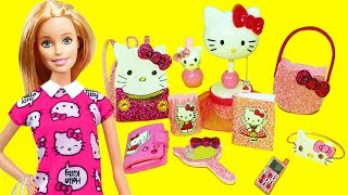 10 DIY MINIATURE HELLO KITTY  Barbie DOLL CRAFTS  & Accessories   - simplekidscrafts