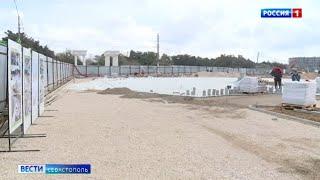 Строительные работы на набережной парка Победы в Севастополе завершат к маю