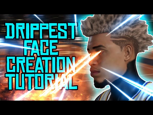 DRIPPY FACE CREATION TUTORIAL! LOOK LIKE A CHEESER!!! NBA 2K19
