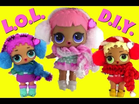 LOL Surprise Dolls EASY DIY ♥ Make An Adorable Scarf & Earmuffs ♥ LOL Doll Story Video ♥ family fun