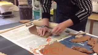 how to make a clay slab mug time lapse with voiceover