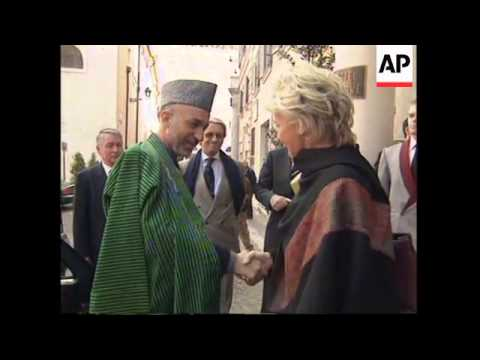 Karzai in Rome before departure with king