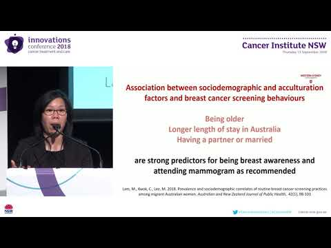 Breast Cancer Screening Practices Among Immigrant Women In Australia Dr Cannas Kwok, Western Sydney