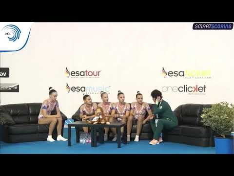 Hungary - 2017 Aerobics Europeans, junior group final