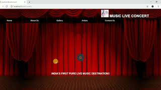 HTML/CSS/PHP Mini Project on Online Booking Live Music Concert | CodeExtended