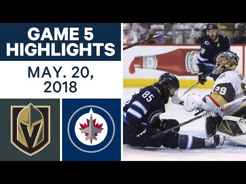 NHL Highlights | Golden Knights vs. Jets, Game 5 - May 19, 2018