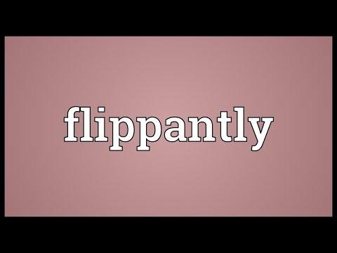 Header of flippantly