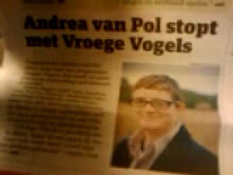 Andrea van Pol stopping with Vroege Vogels... happy face or