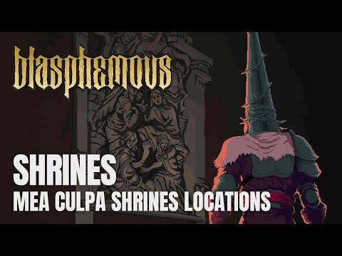 Blasphemous - All Mea Culpa (Sword) Shrines Locations