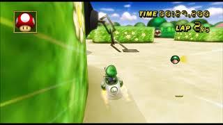[Mario Kart Wii 300cc TAS] DS Peach Garden 58.499