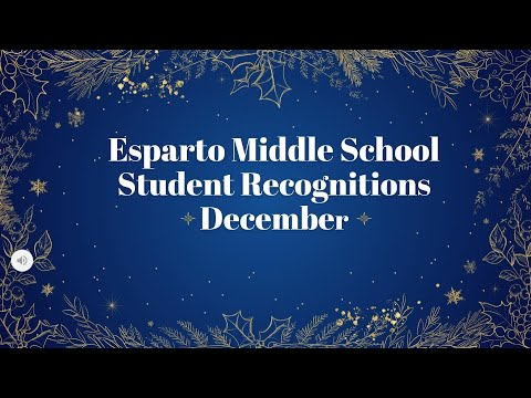 Esparto Middle School December Awards