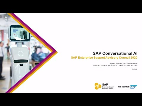 Overview: SAP Conversational AI   ESAC 2020