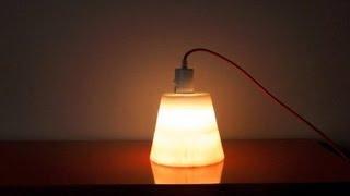 Idée déco : créer une lampe en cire