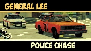 General Lee - Police Chase Scene   The Dukes of Hazzard ( BeamNG drive, Movie scene)