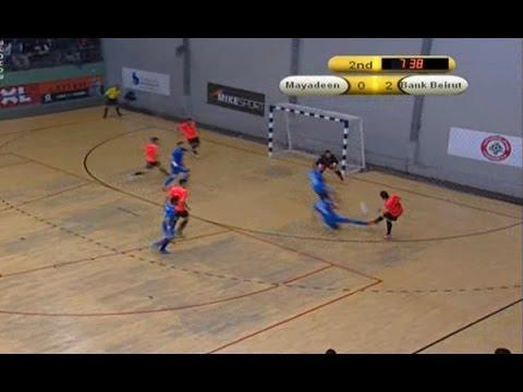 Futsal final Lebanese championship 14 / 15 - Al Mayadeen v/s  Bank Beirut - January 25,2015