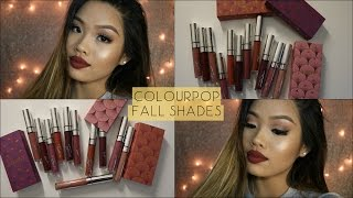 ColourPop Fall Shades (Fall Bundles) - Lip Swatches - Jess Tran