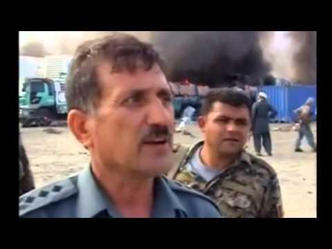NATO base attacked in Torkham Afghanistan by Paki-Punjabi ISI, Dozens Trucks Destroyed