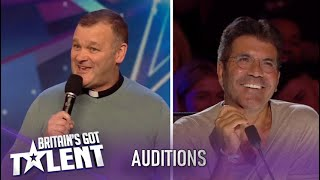 Church Minister Has The Judges Giggling With Amazing Comedy! | Britain's Got Talent 2020