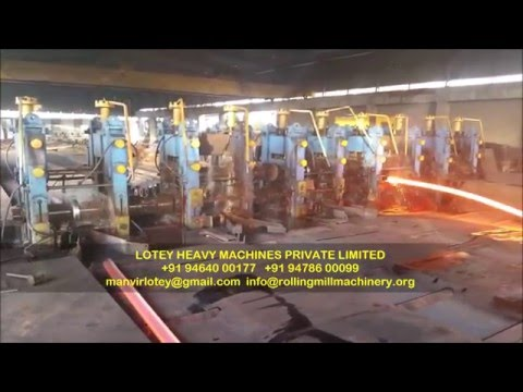 HOT ROLLING MILL MACHINERY SECTION ROLLING MILL MANUFACTURED BY LOTEY HEAVY MACHINES PRIVATE LIMITED