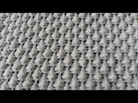 Pine Cone Knitting Pattern : Pine Cone stitch / Knitting patterns Tutorial - YouTube