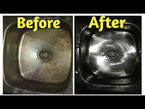 How to deep clean kitchen sink easily..#How to clean kitchen sink blockag drain pipes easy method..