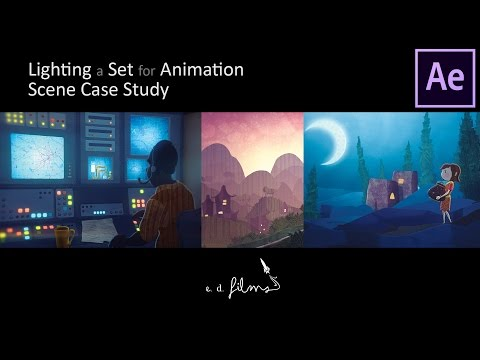 How To Light a Set for Animation with Adobe After Effects - A Scene Case Study | Animation Tutorial
