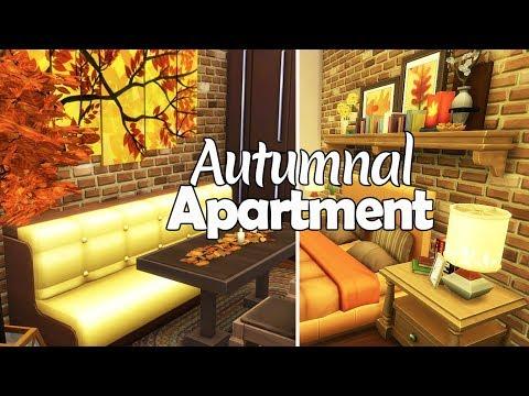 Autumnal Apartment // The Sims 4 Speed Build thumbnail