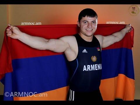 Tigran Martirosyan V Andranik Karapetyan At The 2016 European Weightlifting Championships