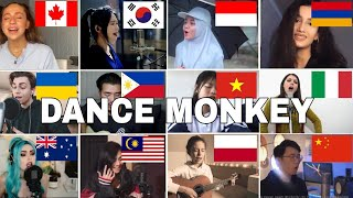 Download lagu Who Sang It Better : Dance Monkey - Tones and I ( 12 different countries )