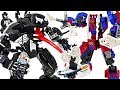 LEGO Marvel Ghost Spider and Spider-Man Mech VS Venom Mech! Help the police! #DuDuPopTOY