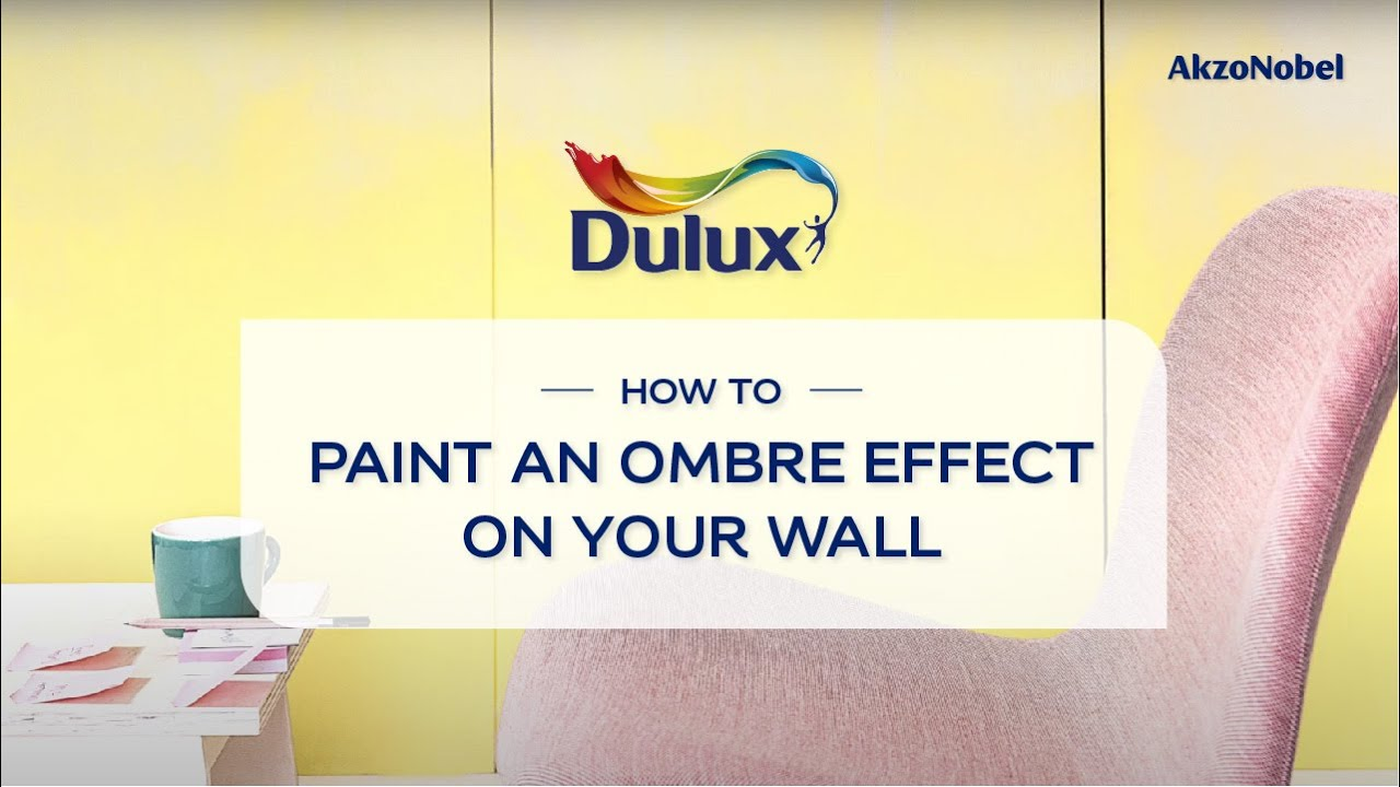How to paint Ombre Effect on your wall - YouTube