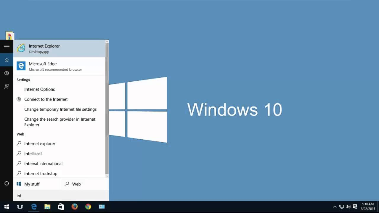 Internet Explorer 11 For Windows 10 Pro