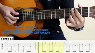 Harusnya Aku - Armada - Aransemen sederhana Fingerstyle Guitar - Tutorial TAB.
