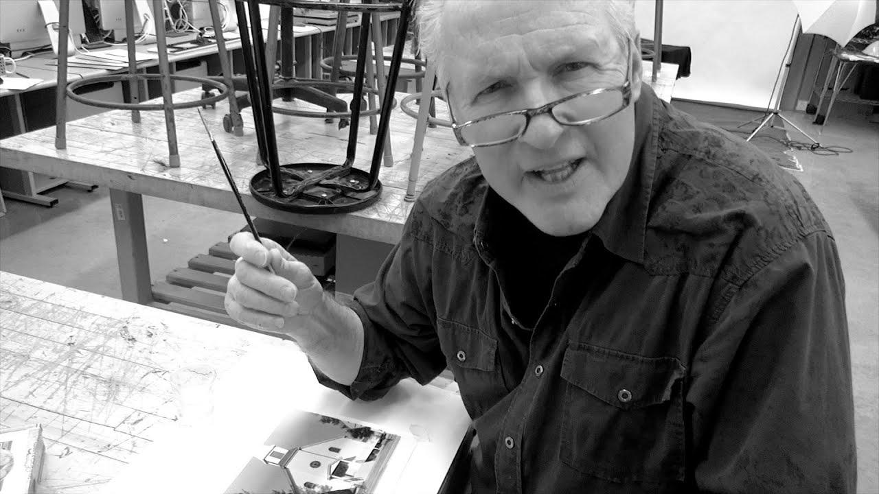 Black and white photo retouching