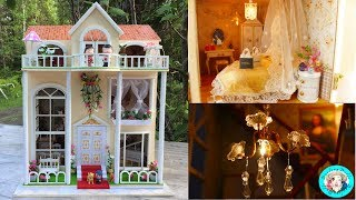 DIY Miniature Sweet Home Dollhouse~Huge Mansion! with furniture, tiny dolls, tiny animals, lights