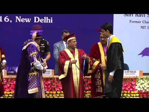 PRESIDENT OF INDIA ATTENDS FIRST CONVOCATION OF NIT DELHI - 07-09-2016