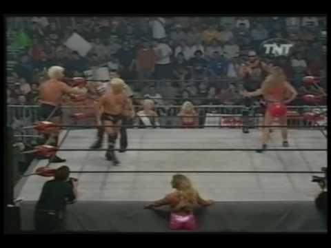 WCW Monday Nitro 5-17-99 Ric Flair And Charles Robinson Vs Randy Savage And Madusa 1 Of 2