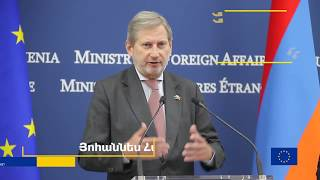 Commissioner Hahn's visit to Armenia to prepare for the Eastern Partnership Summit