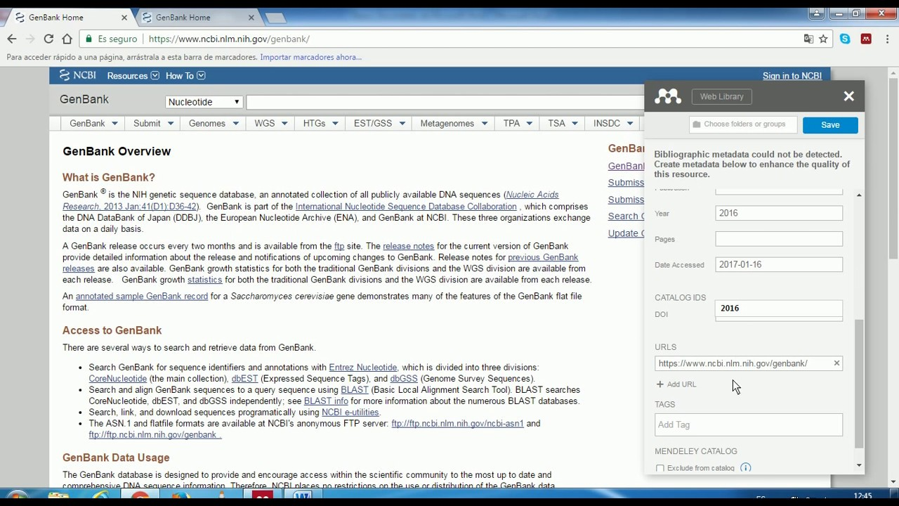 how to add a website to mendeley
