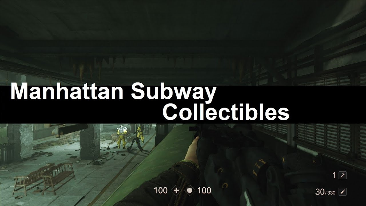 Wolfenstein 2 Subway Map.Wolfenstein 2 Collectibles Manhattan Subway District