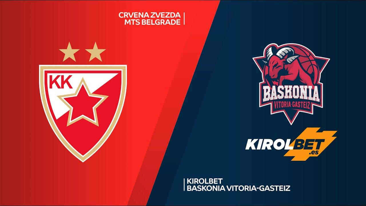 Crvena Zvezda mts Belgrade - KIROLBET Baskonia Vitoria-Gasteiz Highlights | EuroLeague, RS Round 13