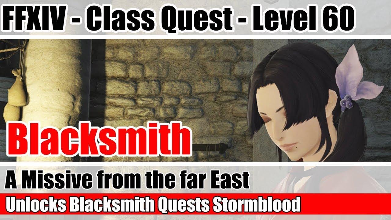 FFXIV Unlock Quest Blacksmith Level 60 SB