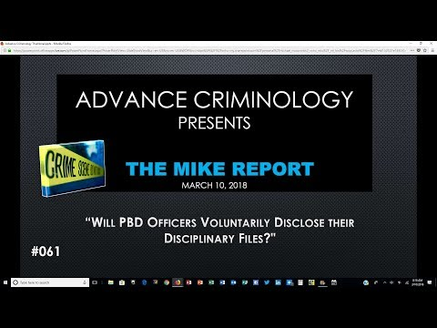 Will BPD Officers Voluntarily Disclose their Misconduct Files?