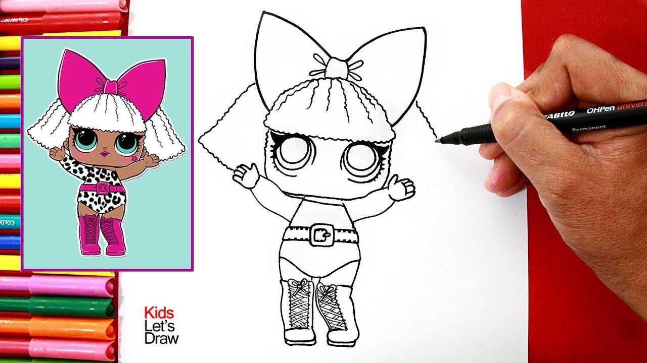 Aprende a dibujar y pintar a diva mu eca lol surprise how to draw diva doll youtube - Diva lol surprise ...