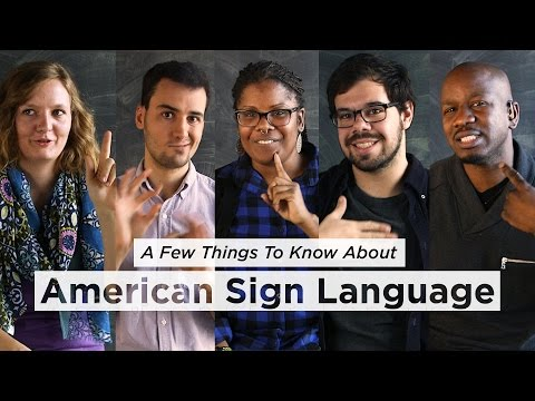 A Few Things to Know About American Sign Language | NPR