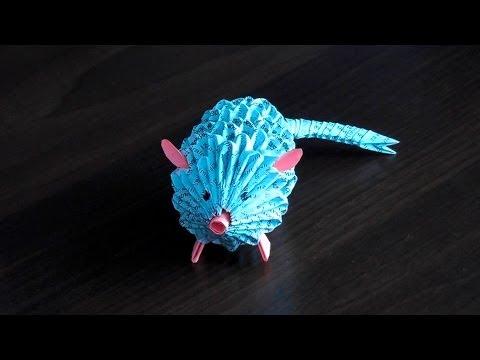 Модульное оригами крыса (мышка