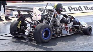 Drag Kart Running a 9.81 @ 131mph at Santa Pod USC 2017